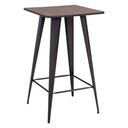 Brika Home Elm Square Pub Table in Black