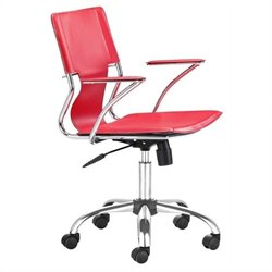 Brika Home Office Chair in Red