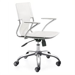 Brika Home Office Chair in White