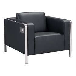 Brika Home Faux Leather Armchair