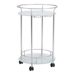 Brika Home Glass Kitchen Cart 1