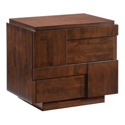 Brika Home Nightstand in Walnut