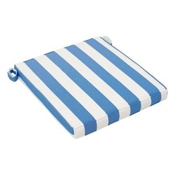 Brika Home Seat Cushion in Blue and White