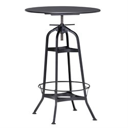 Brika Home Pub Table in Antique Black