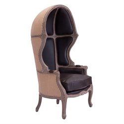 Brika Home Faux Leather Chair in Brown