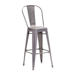 Brika Home Bar Stool in Gunmetal