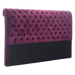 Brika Home Velvet Headboard in Wine 1