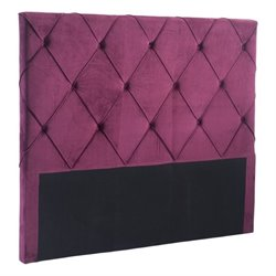 Brika Home Velvet Headboard in Wine