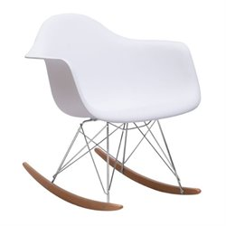 Brika Home Rocking Chair in White