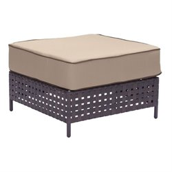 Brika Home Outdoor Ottoman in Beige