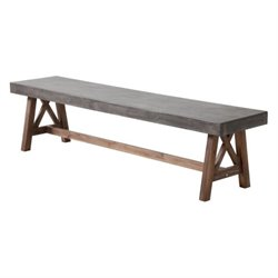 Brika Home Outdoor Bench in Gray