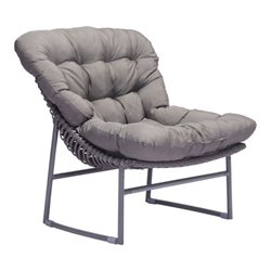 Brika Home Outdoor Chair in Gray
