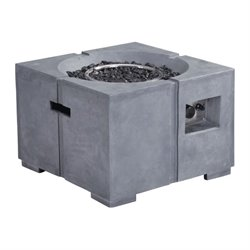 Brika Home Propane Fire Pit in Gray