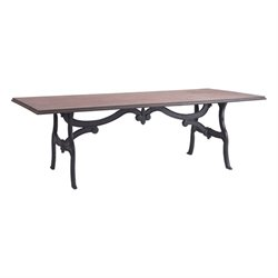 Brika Home Dining Table in Distressed Natural
