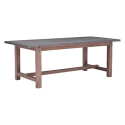 Brika Home Dining Table in Gray and Distressed Fir