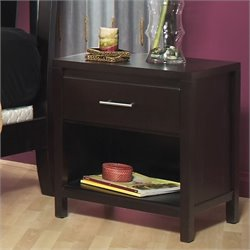 Bowery Hill 1 Drawer Nightstand in Espresso