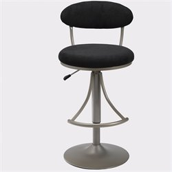 Bowery Hill Adjustable Swivel Bar Stool in Black
