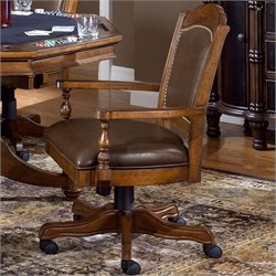 Bowery Hill Arm Chair with Leather Back
