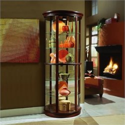 Bowery Hill Half Round Curio Cabinet