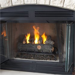 Bowery Hill 24 Inch Conversion Oak Log Set Gel Fuel Fireplace