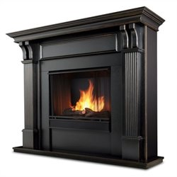 Bowery Hill Gel Fireplace in Blackwash  Finish