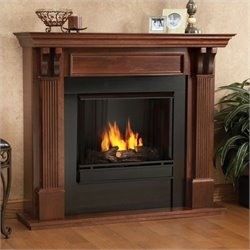 Bowery Hill Gel Fuel Fireplace in Mahogany Finish