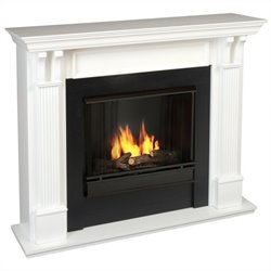Bowery Hill Gel Fuel Fireplace in White Finish