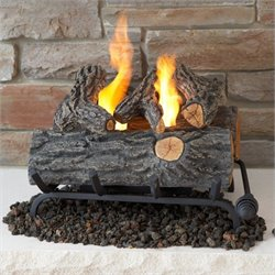Bowery Hill 18 Inch Conversion Oak Log Set for Gel Fuel Fireplace