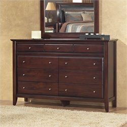 Bowery Hill 9 Drawer Double Dresser in Coco
