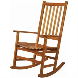 Bowery Hill Casual Traditional Wood Rocker