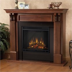 Bowery Hill Electric Fireplace in Mahogany