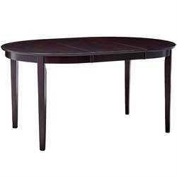 Bowery Hill Oval Dining Table in Cappuccino