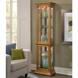 Bowery Hill Curio Display Cabinet in Estate Oak