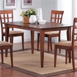 Bowery Hill Rectangular Leg Dining Table in Warm Medium Walnut