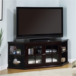 Bowery Hill Transitional Corner Media Unit with Doors
