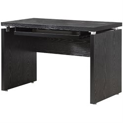 Bowery Hill Computer Desk with Keyboard Tray in Black