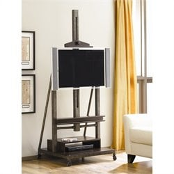 Bowery Hill TV Stand in Distressed Brown