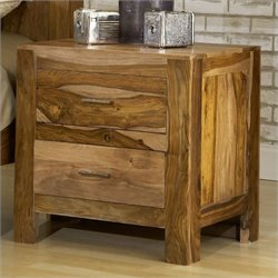 Bowery Hill Nightstand in Natural Sheesham