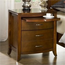 Bowery Hill Charging Station Nightstand in Cinnamon