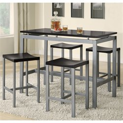 Bowery Hill Counter Height Table and Stool Set