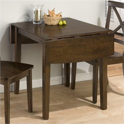 Bowery Hill Double Drop Leaf Dining Table in Brown Cherry