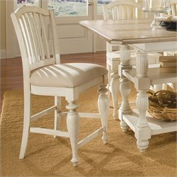 Bowery Hill Counter Height Dining Chair in Dover White