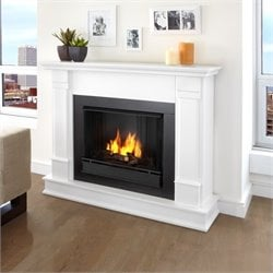 Bowery Hill Gel Fireplace in White Finish