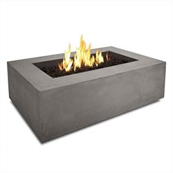 Bowery Hill Rectangular Propane Fire Table in Glacier Gray
