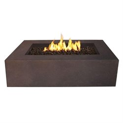 Bowery Hill Rectangular Propane Fire Table in Kodiak Brown