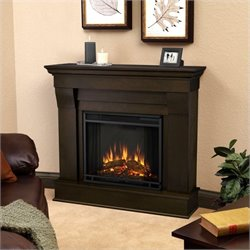 Bowery Hill Electric Fireplace in Dark Walnut Finish