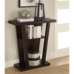 Bowery Hill Angled Entry Table in Cappuccino