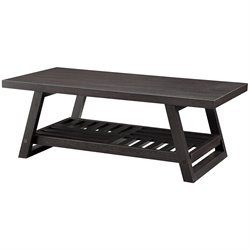 Bowery Hill Casual Coffee Table in Rich Brown