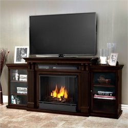 Bowery Hill Entertainment Center Gel Fireplace Dark Walnut