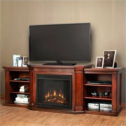Bowery Hill Entertainment Center Electric Fireplace Dark Mahogany